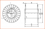 Rigidcord packing metal spool