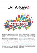 Memòria activitat de la Fundació La Farga 2013