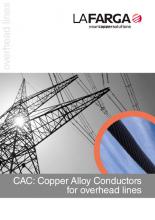 Catalogue CAC (Copper Alloy Conductor) pour lignes aériennes